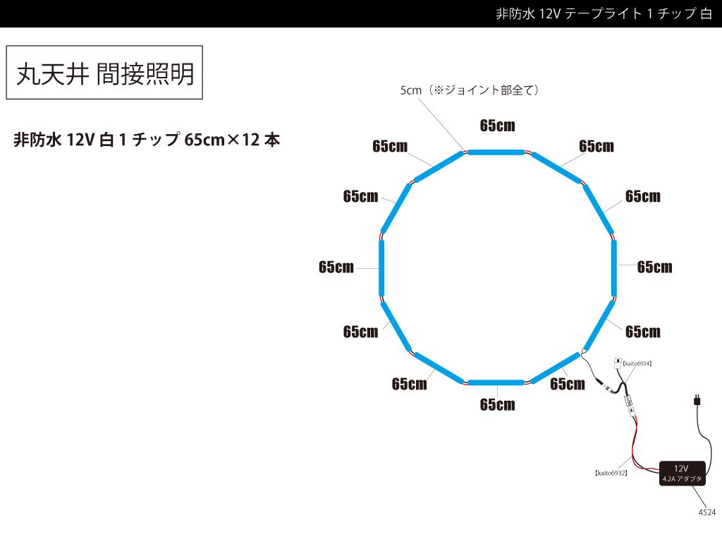 【参考価格】丸天井取付け用テープライト例