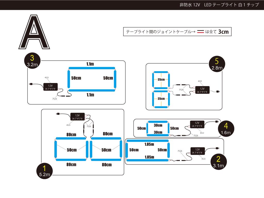 【参考価格】ショーケースでのテープライト利用